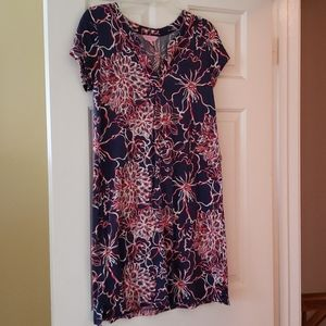 Lilly Pulitzer- floral short-sleeve dress, size S